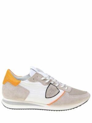 Baskets mondial low-top sneakers gris/orange
