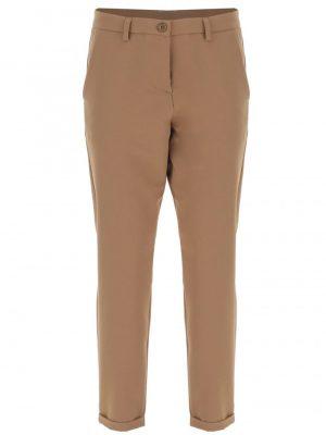 Imperial pantalon forme carotte à revers