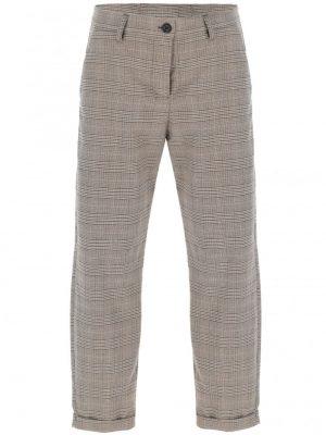 Imperial pantalon forme carotte à motif prince de galles