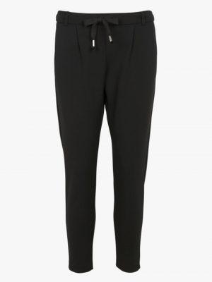 Pantalons Pantalon jog slim à pinces en crêpe Noir