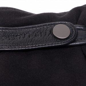 Accessoires gants en cuir noir