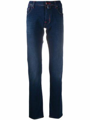 Braderie jean slim à détails de coutures