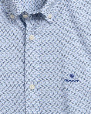 Braderie chemise slim fit à imprimé armuré pois