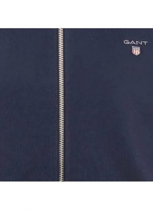 Gant sweat col montant zippé regular-fit en coton mélangé