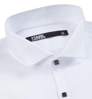 Braderie chemise coupe moderne popeline blanc
