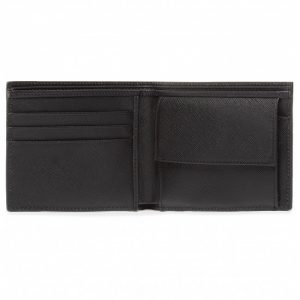 Lagerfeld portefeuille en cuir noir