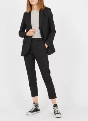Imperial Pantalon droit à rayures Noir