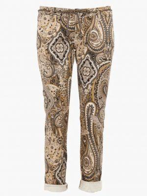 Pantalons Chino imprimé en coton mélangé Blanc