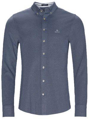 Braderie chemise regular fit en piqué tech prep marine
