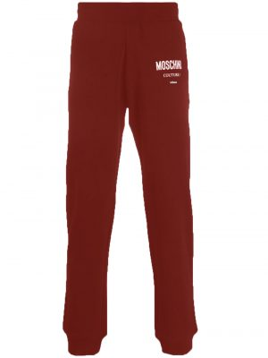 Men pantalon de jogging à logo imprimé rouge