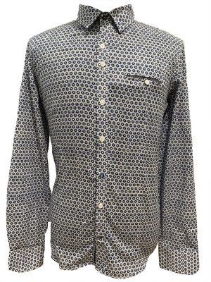 Chemises chemise à motifs et poche poitrine