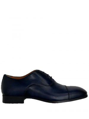 Chaussures richelieux en cuir bleu