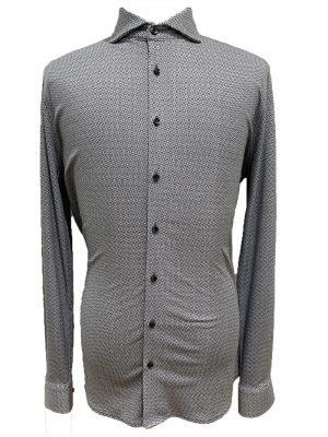 Braderie desoto chemise grise à motifs