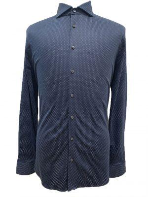 Braderie desoto chemise bleue à motifs