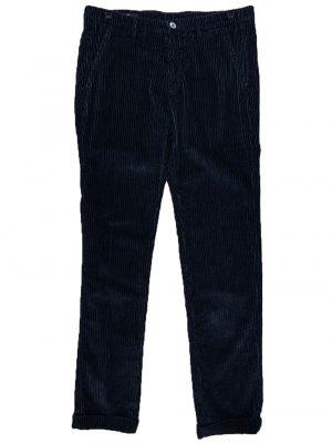 Braderie pantalon velours côtelé bleu