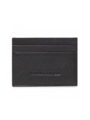 Lagerfeld portecarte en cuir noir