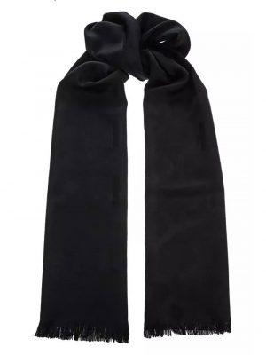 Accessoires foulard en laine noir
