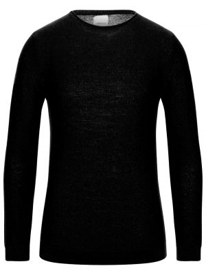 Bellwood pull à col rond en laine merinos noir