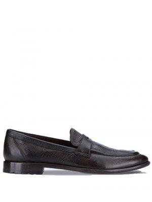 Chaussures mocassins en cuir noir