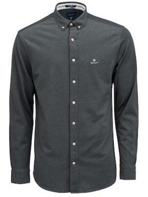 Braderie chemise en coton à coupe régulière dobby