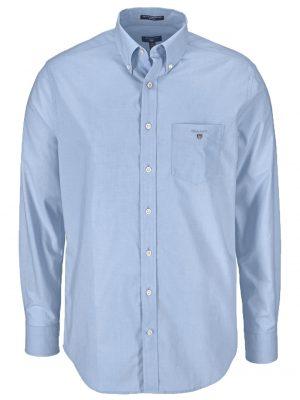 Chemises chemise regular fit en popeline de coton bleu