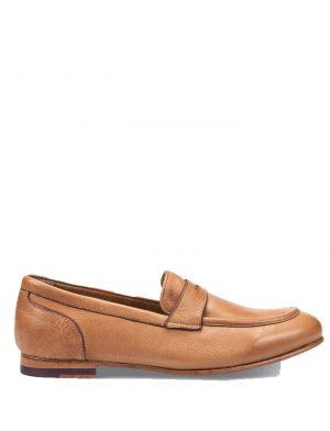 Chaussures mocassins en cuir marron clair