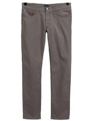 Braderie pantalon fuselé en satin gris