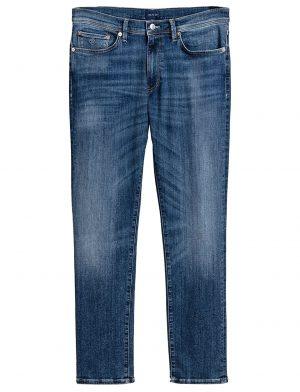 Gant jean à effet délavé