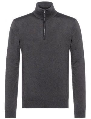 Bellwood pull col zippé gris