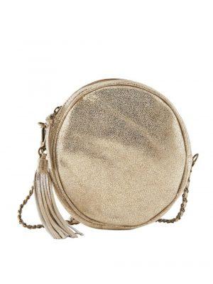 Accessoires PIECES – Sac à bandoulière rond en cuir PCAMANDA Femme Doré