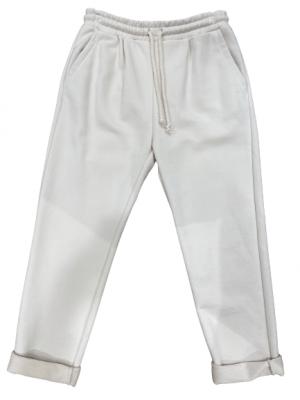 Imperial pantalon décontracté avec taille à cordon coulissant couleur ECRU