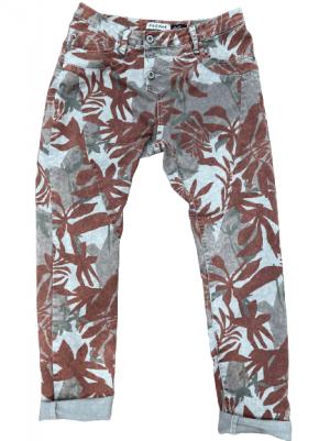Pantalons PLEASE Pantalon imprimé feuillage