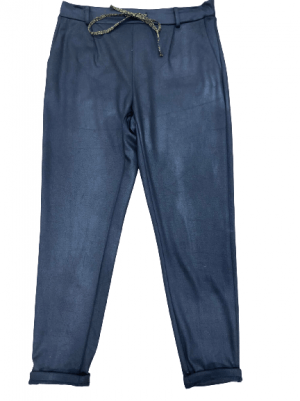 Pantalons PLEASE Pantalon noir avec cordon doré