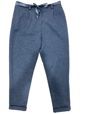 Braderie Pantalon droit GRIS cordon fantaisie