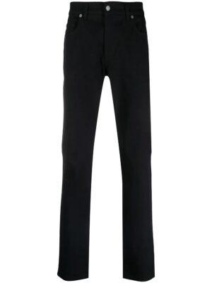 Jeans jean slim à plaque logo