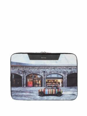 Men Housse pour ordinateur portable en toile imprimée 'Mini Kings Cross'