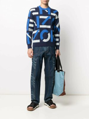 Kenzo pull en maille intarsia