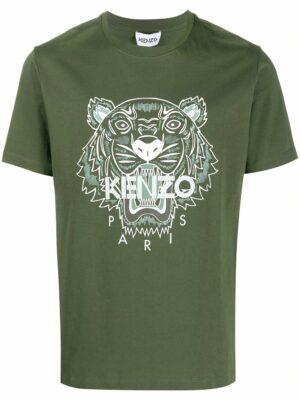 Kenzo t-shirt à motif Tigre brodé