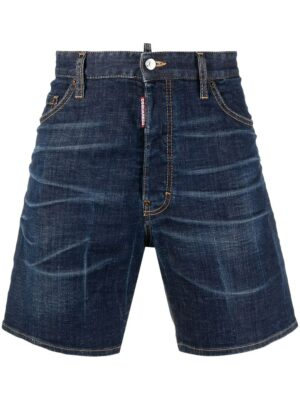 Dsquared2 short en jean à taille mi-haute