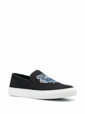 Baskets chaussures de skate à tigre brodé