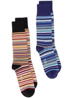 Men lot de deux paires de chaussettes à rayures