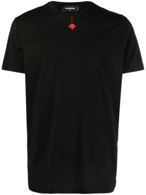 Dsquared2 t-shirt à imprimé feuille d'érable
