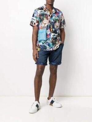 Chemises chemise à design patchwork