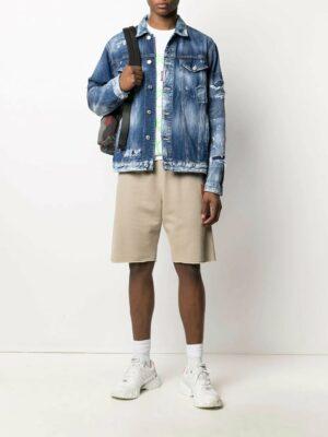 Dsquared2 veste en jean à boutonnière