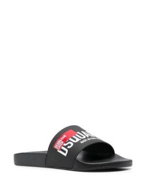 Chaussures claquettes à logo imprimé