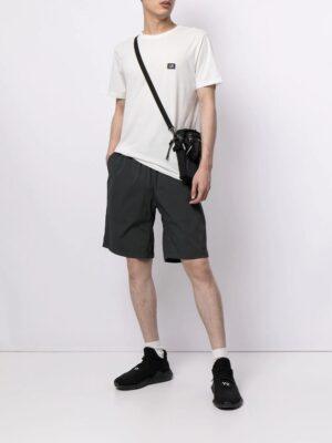 CP Company t-shirt en jersey 30/1 avec écusson avec logo en gaze blanc