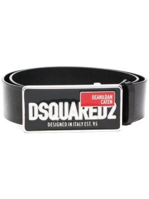 Accessoires ceinture en cuir à plaque logo