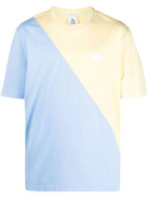 Lacoste Live T-shirt unisexe Lacoste LIVE loose fit en coton bicolore