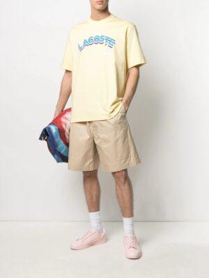 Lacoste Live T-shirt unisexe Lacoste LIVE loose fit en coton avec marquage