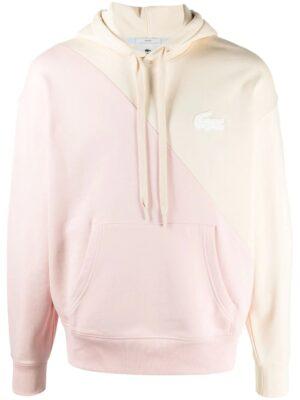 Lacoste Live Sweatshirt unisexe à capuche Lacoste LIVE loose fit en molleton bicolore